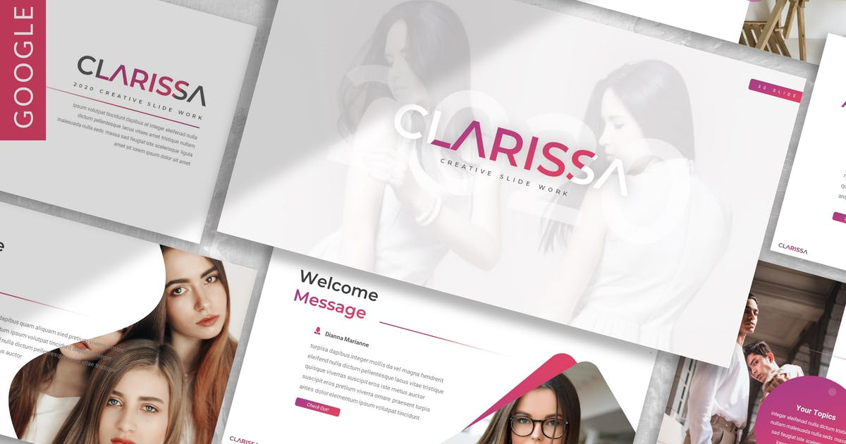 Download Clarissa - Business Google Slide Template by designesto