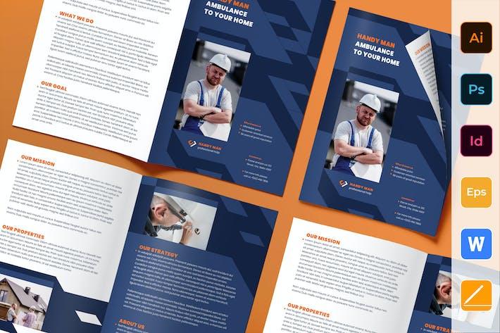 Thumbnail for Handyman Brochure Bifold