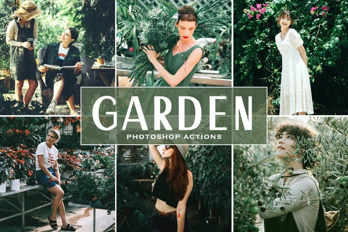 Garden Photoshop Actions