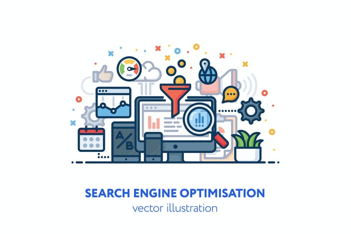 Cover Image For Search engine optimisation illustration