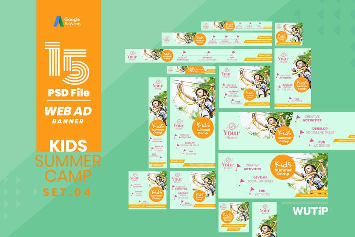 Thumbnail for Web Ad Banner-Kids Summer Camp 04