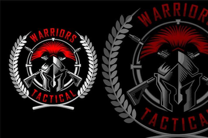 Military Spartan Helmet Logo