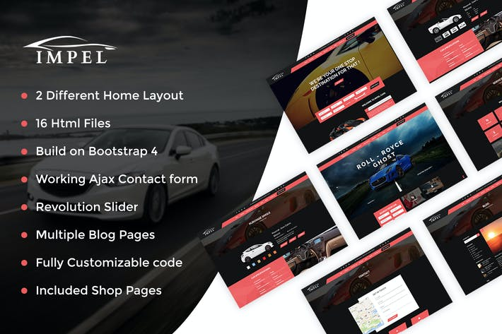 Thumbnail for Impel Car - Car Dealer HTML Template