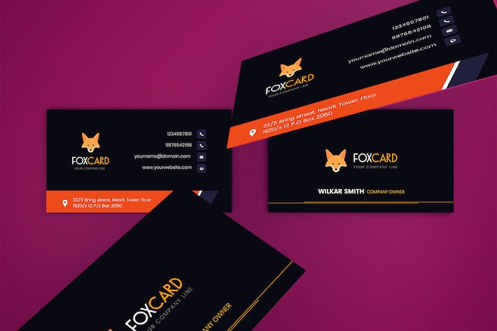 Thumbnail for FoxCard - Business Card Template