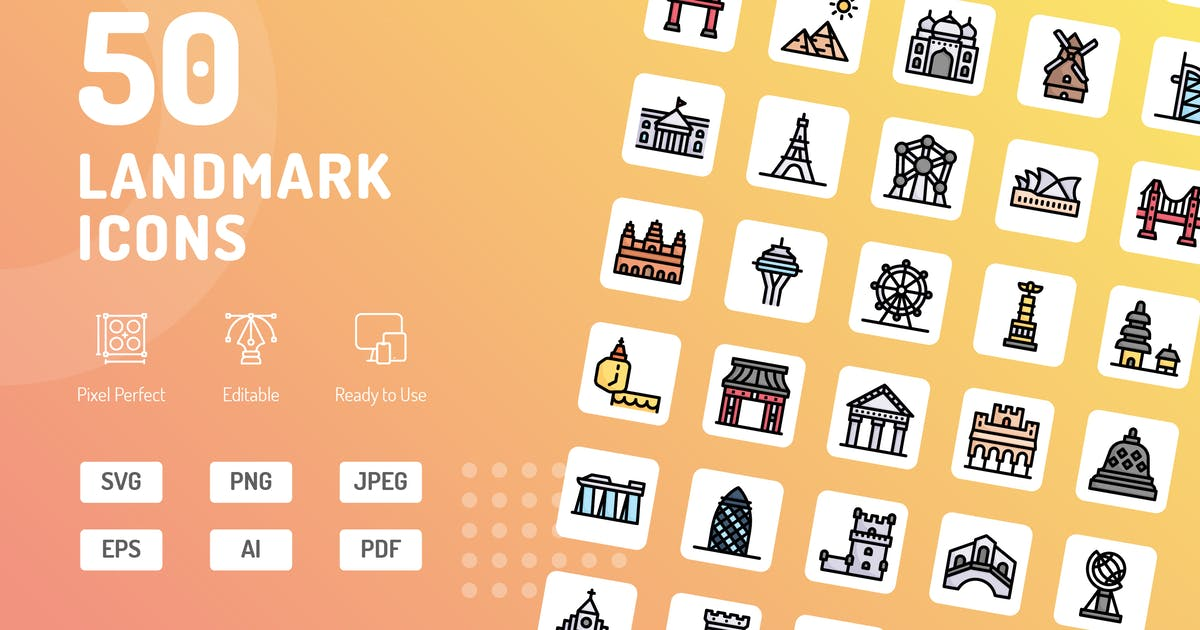 Download Landmark Color Icons by kerismaker