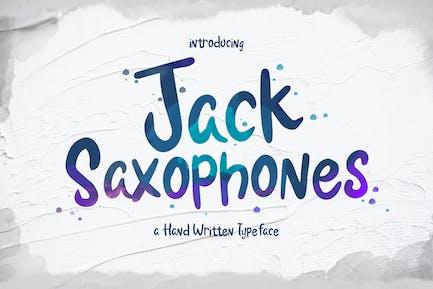 Jack Saxophones - Handwritten Typeface