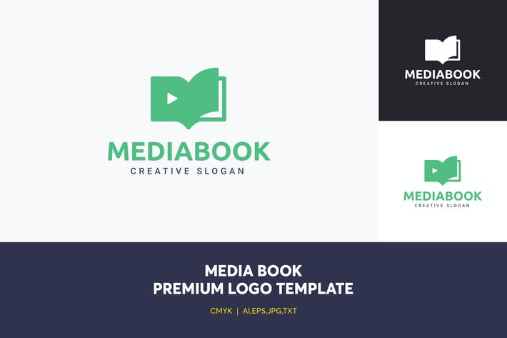 Thumbnail for Media Book Logo Template