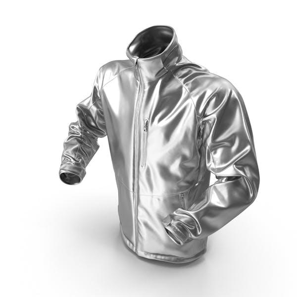 Male Silver Winter Jacket