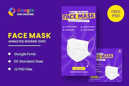 Face Mask Animated Banner Google Web Designer