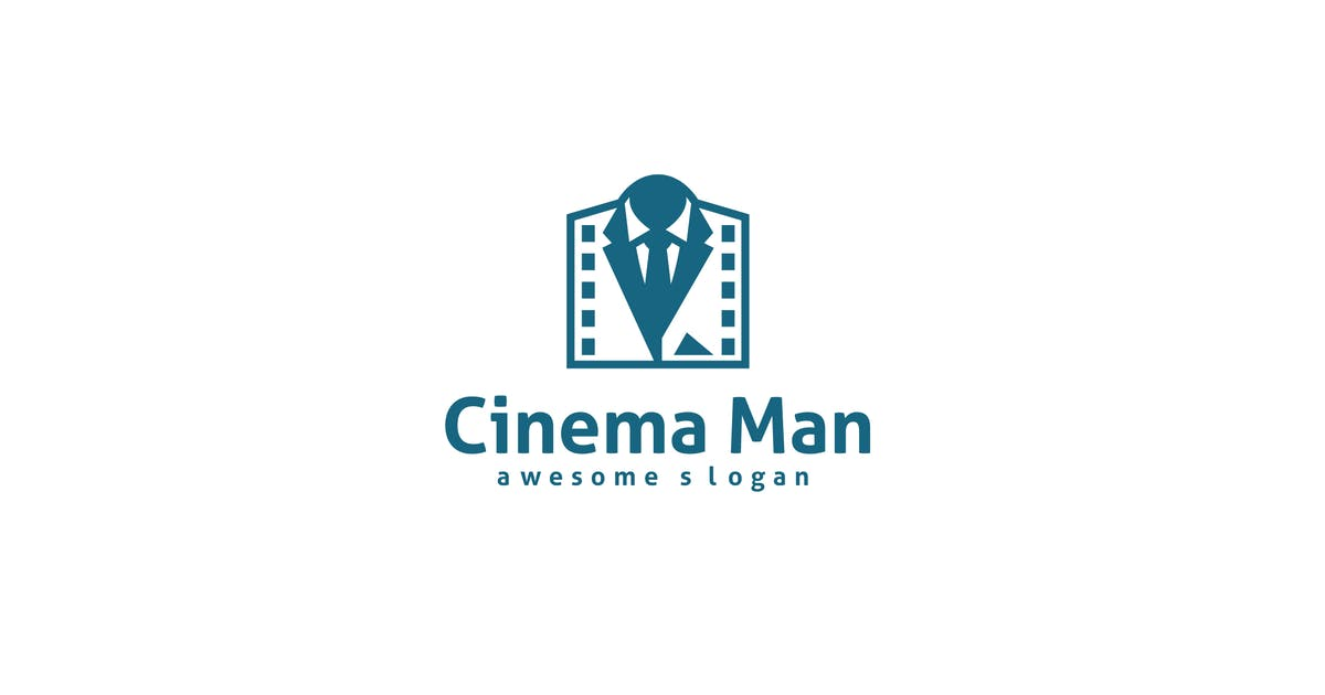 Download Cinema Man Logo Template by hoanglam1607