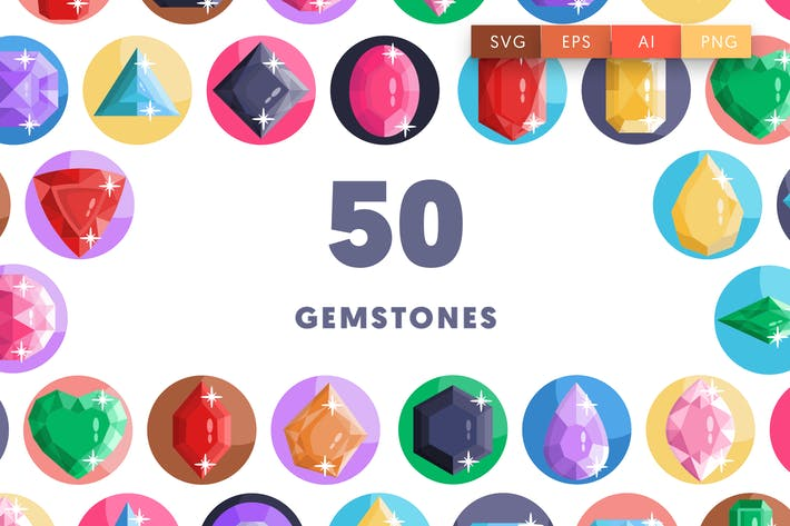 Gemstones Icons