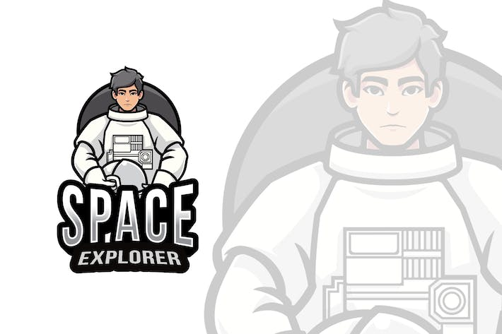 Thumbnail for Space Explorer Logo Template