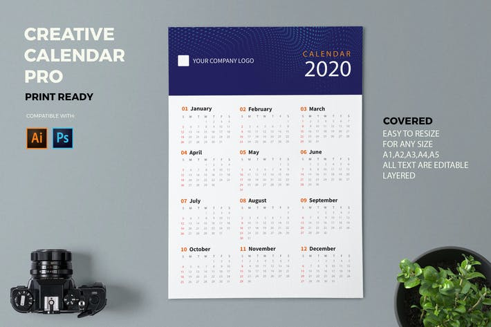 Thumbnail for Creative Calendar Pro 2020