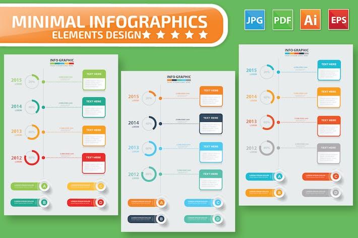 Инфографический дизайн временной шкалы