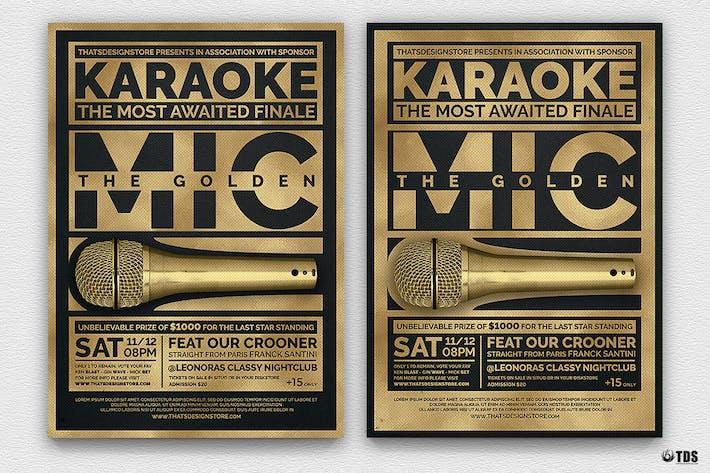 Thumbnail for Karaoke Flyer Template V5