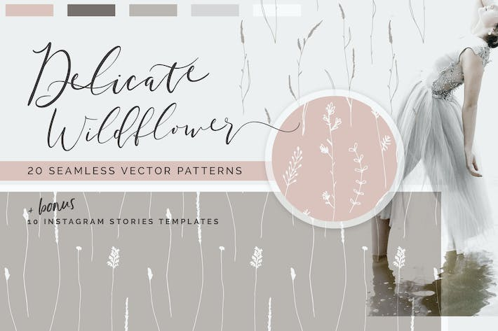 Thumbnail for Wildflower Patterns + Templates