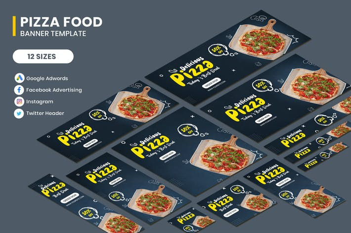 Thumbnail for Pizza Food Banner Template