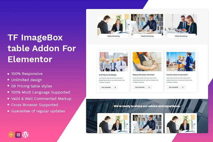 Thumbnail for Image Box addon - widget for Elementor