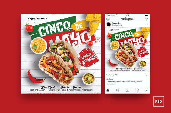 Thumbnail for Tacos-Platz Flyer & Instagram Beitrag