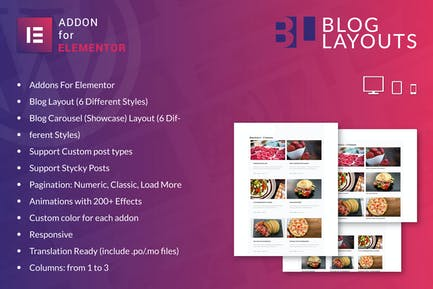 Diseños de blog para Elementor WordPress Plugin
