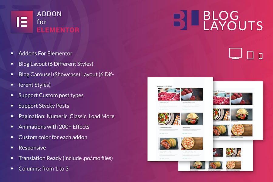 Blog Layouts for Elementor WordPress Plugin