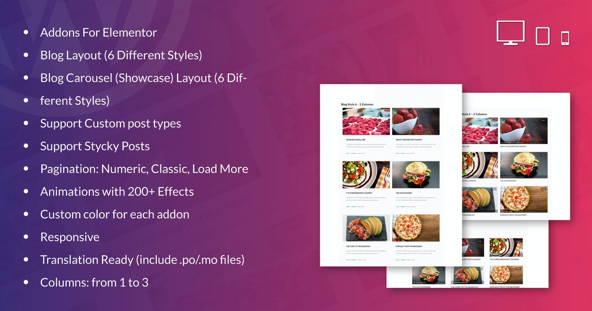 Download Blog Layouts for Elementor WordPress Plugin by ad-theme