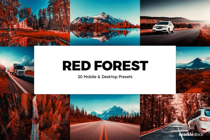 20 Red Forest Lightroom Presets & LUTs
