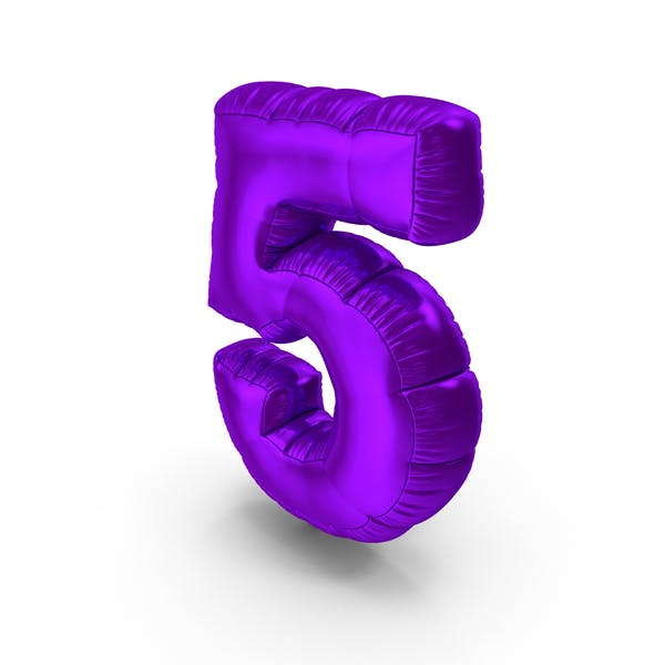 Cover Image for Foil Balloon Number 5 Purple