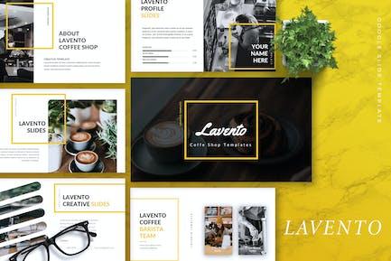 LAVENTO - Кофейня Google Слайды Шаблон