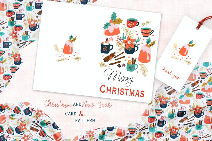 Thumbnail for Spicy Christmas Greeting Card and Pattern
