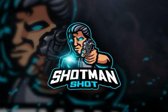 Thumbnail for Shotman Shot - Mascot & Esport Logo