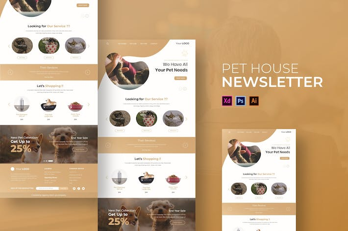 Thumbnail for Pet House | Newsletter Template
