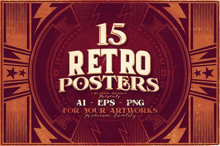 Thumbnail for 15 Retro Poster