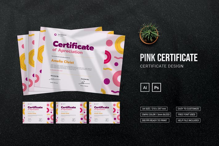 Pink - Zertifikat
