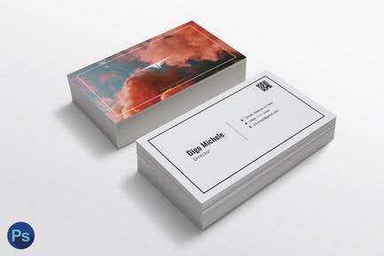 Smoke Color Business Card Template