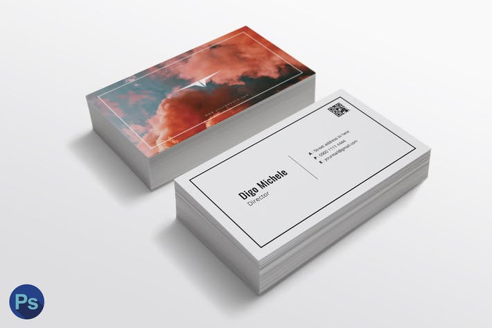 Thumbnail for Smoke Color Business Card Template