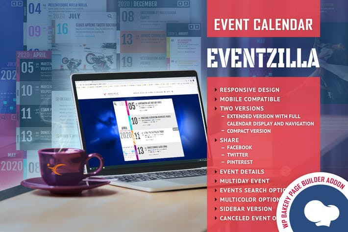Thumbnail for EventZilla - Event Calendar - Addon For WPBakery