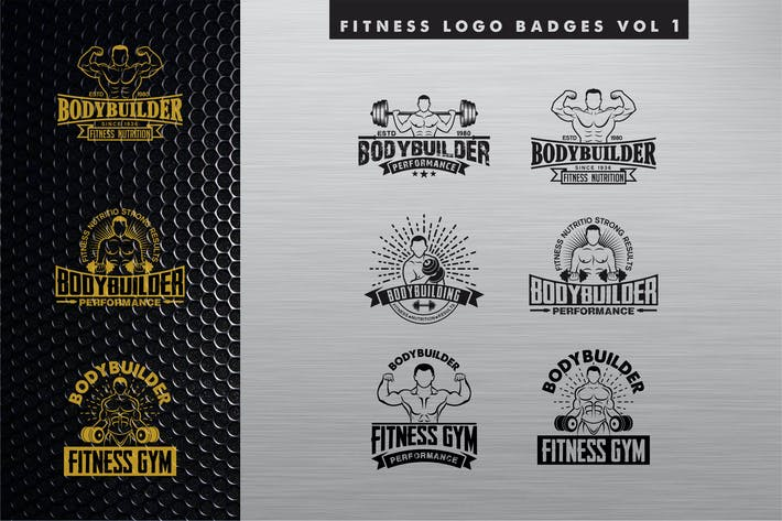 Thumbnail for fitness logo BADGE vol 1