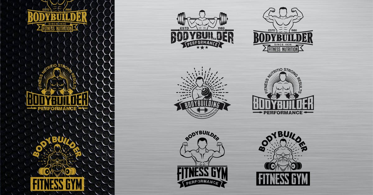 Download fitness logo BADGE vol 1 by shazidesigns