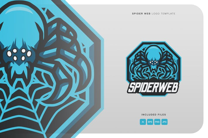 Thumbnail for Spider Web Logo Template