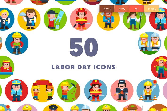 Thumbnail for 50 Labor Day Icons