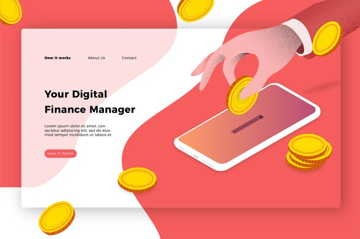 Cover Image For Digital Finance Manager - Banner & Landing Page