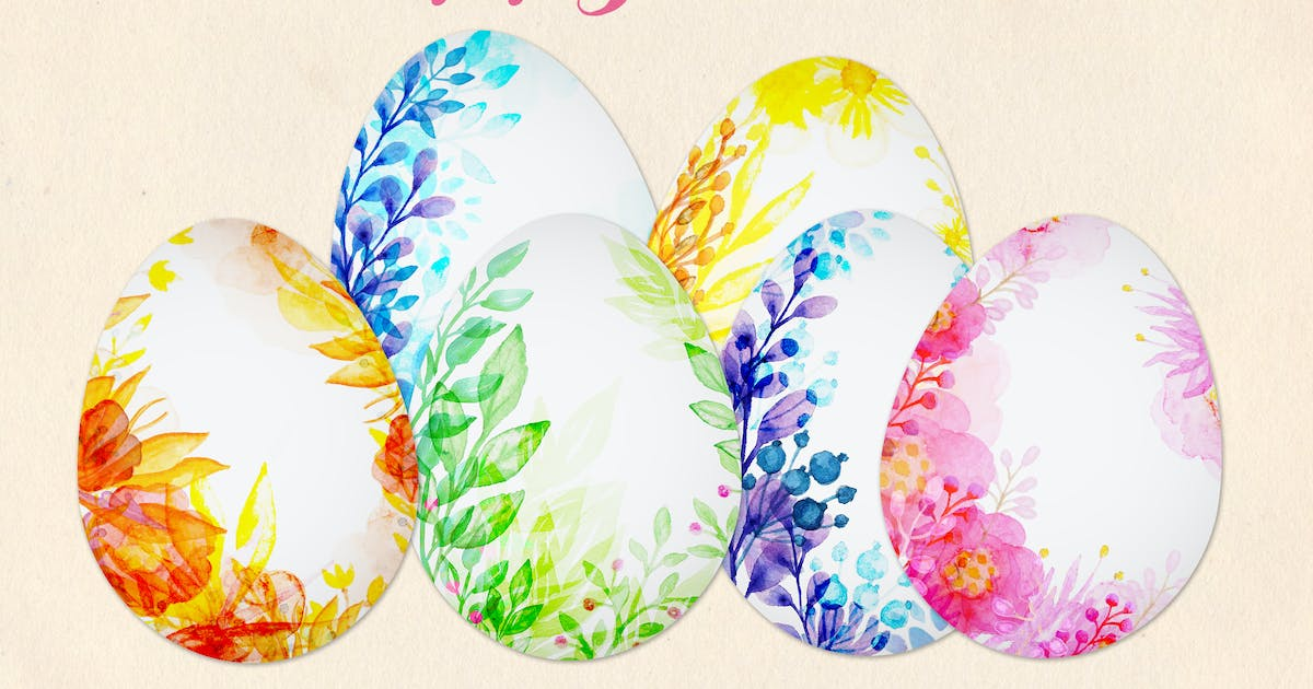 Download Watercolor Easter Eggs by Artness