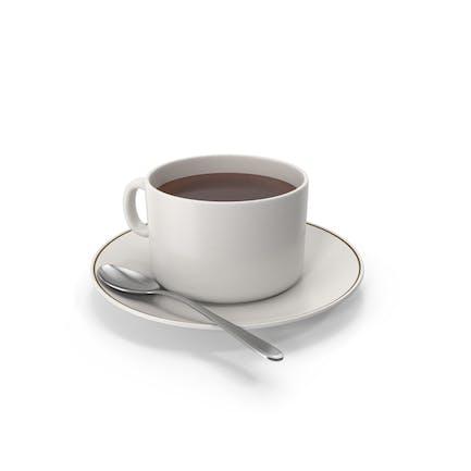 Kaffeetasse mit Löffel