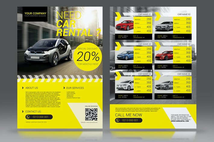 Thumbnail for Car Rental Flyer