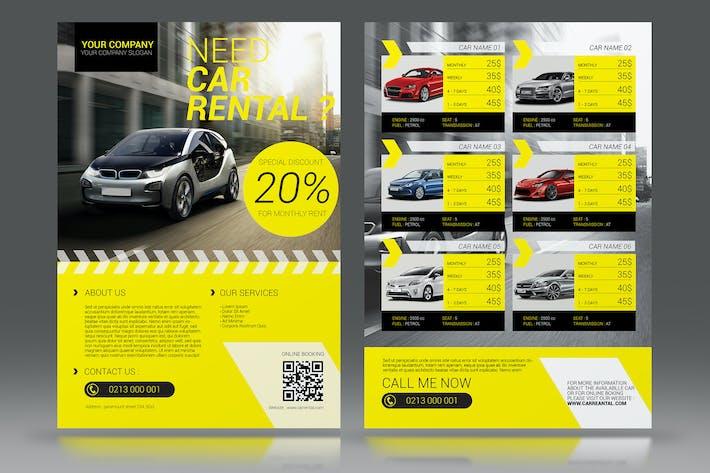 car rental flyer by aarleykaiven on envato elements