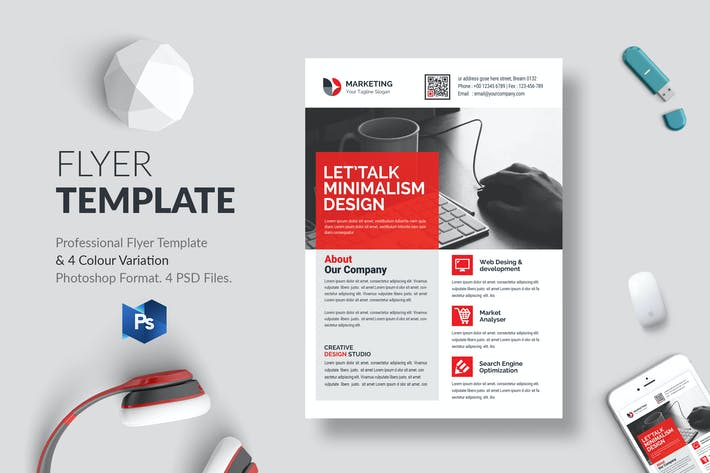 Thumbnail for Business Flyer Template 32