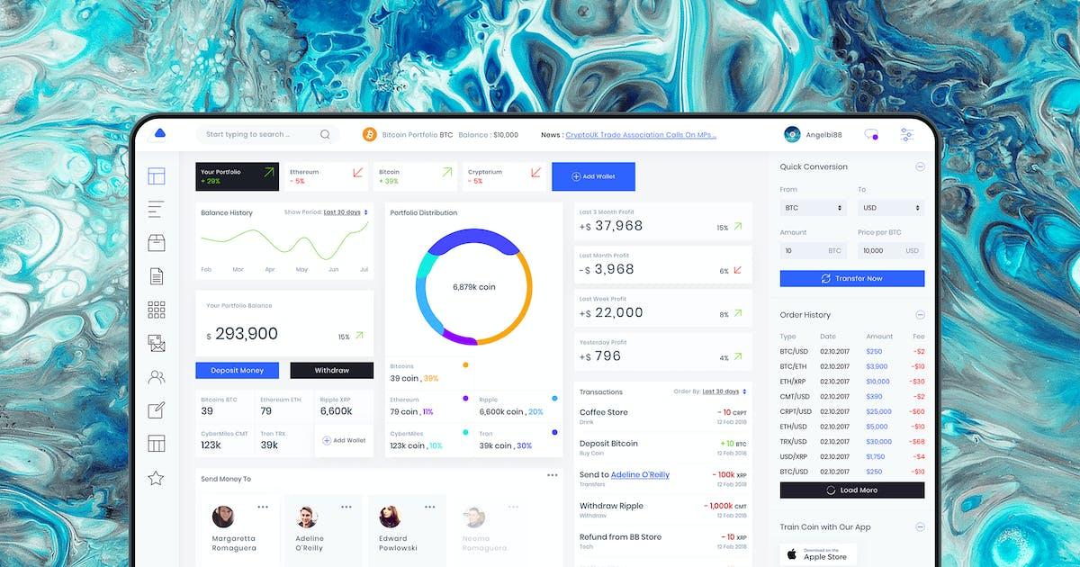 Download Admin Dashboard Crypto Balance Ui kit by angelbi88