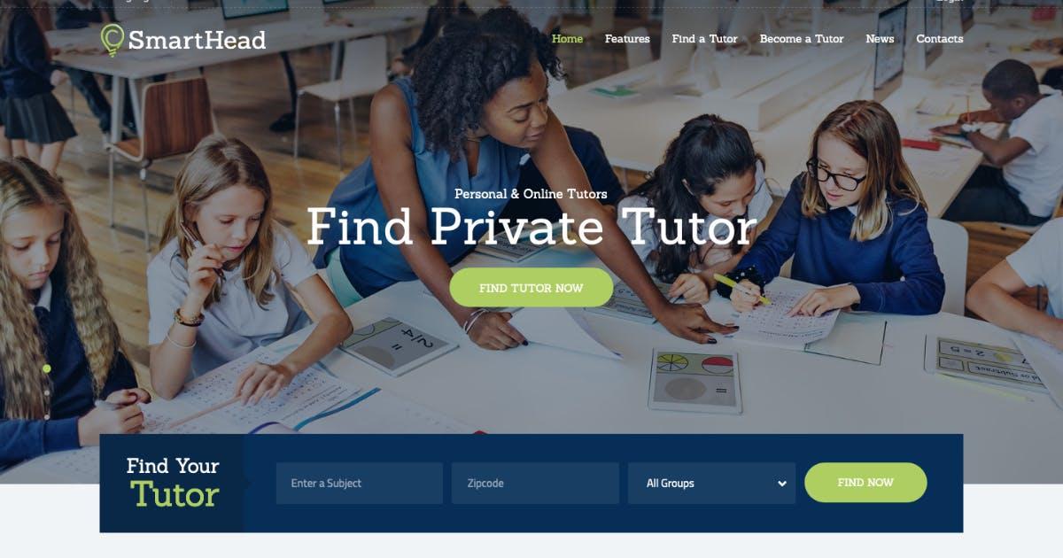 Download SmartHead | Tutoring Service & Online School WP by AncoraThemes