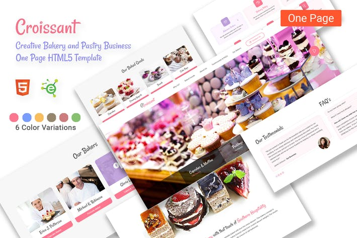 Thumbnail for Croissant - Creative Bakery and Pastry HTML5 Templ